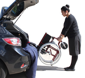 To Transfer A Wheelchair Into The Back Of A Car