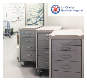 Unicare Health supplies new equipment and furniture for new short stay unit at Sir Charles Gairdner Hospital.