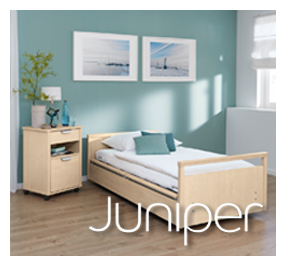 Juniper Annesley Residential Care chooses world-class Wissner-Bosserhoff nursing beds and Care of Sweden pressure care mattresses.