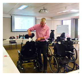wheelchair seating adjustments workshop feature