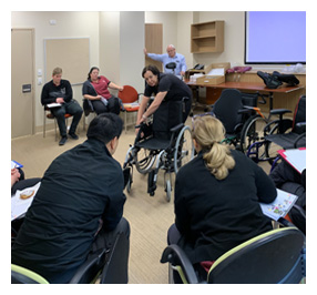 Rockingham Hospital invites Unicare Health to share wheelchair scripting knowledge with Occupational Therapists.