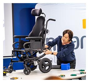 SR 45 Tilt-in-space Wheelchair